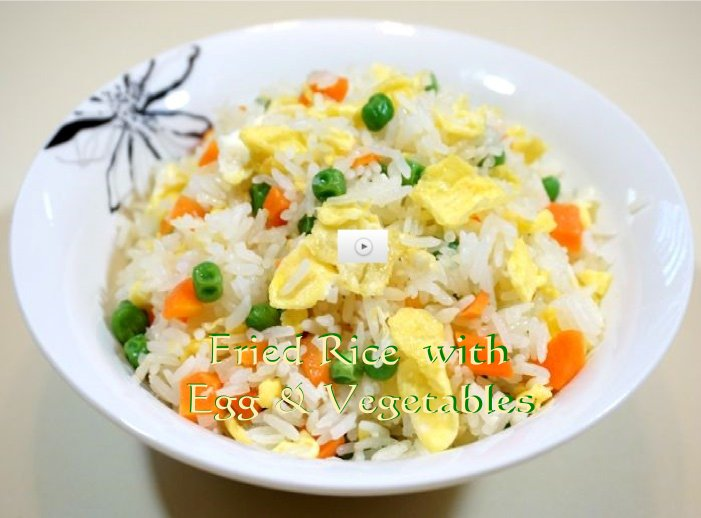Fried Rice with egg & vegetables