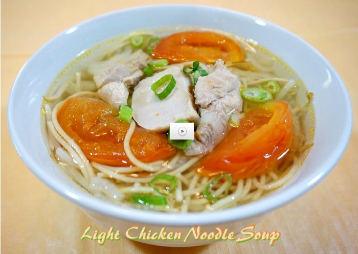 light chicken noodle soup